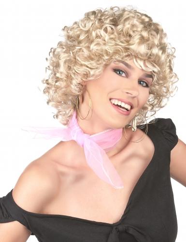 Blonde 50er Jahre Lockenperücke für Damen