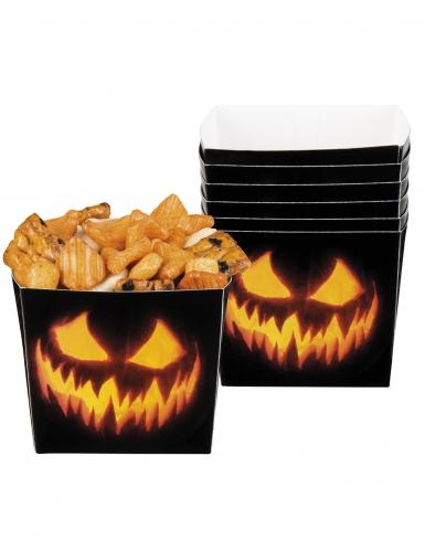 Kurbis Behalter Halloween Dekoration 6 Stuck Schwarz Orange 400ml Partydeko Und Gunstige Faschingskostume Vegaoo