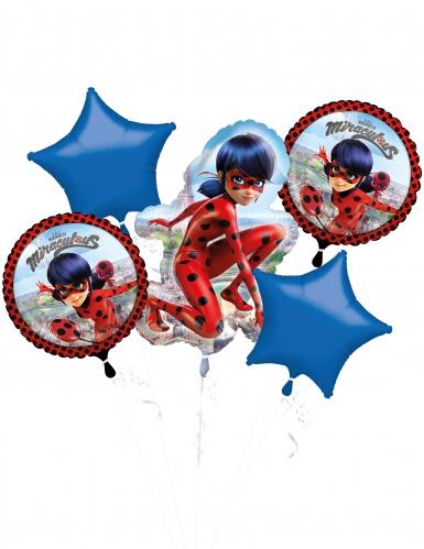 Folienballons-Ladybug™ Aluminium 5 Stück rot-blau-schwarz