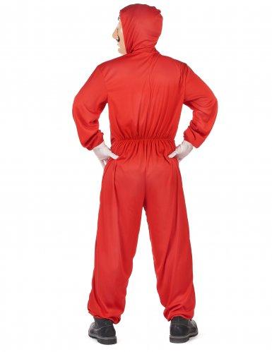 Bankräuber-Verkleidung für Erwachsene rot-2