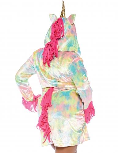 Buntes Einhorn Plus Size Kostüm für Damen-1