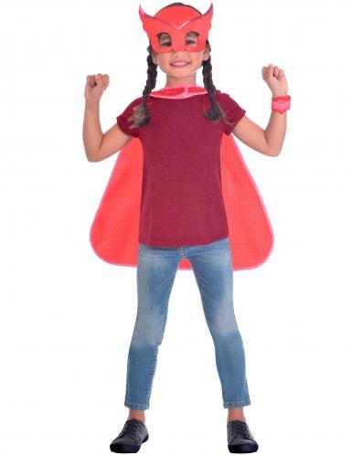 PJ Masks™-Eulette Kostüm-Set Lizenz für Kinder rot