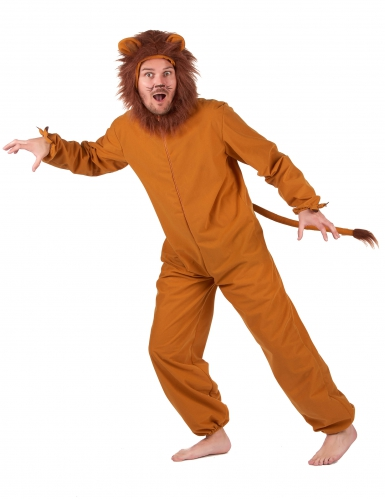 Löwen-Herrenkostüm Tier-Verkleidung braun-1