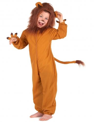 Löwen-Kinderkostüm Karneval Tier-Verkleidung braun-1