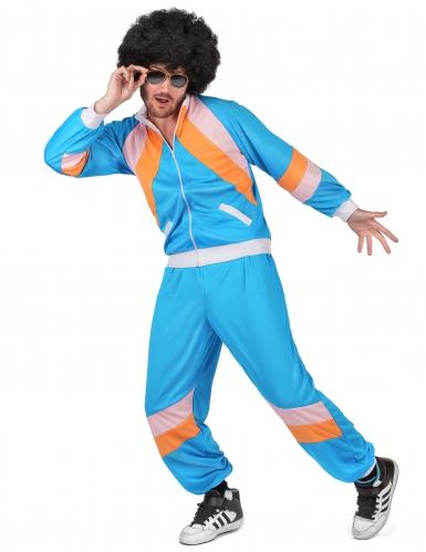 80er-Jahre Retro-Jogginganzug für Erwachsene blau-orange-rosa-1