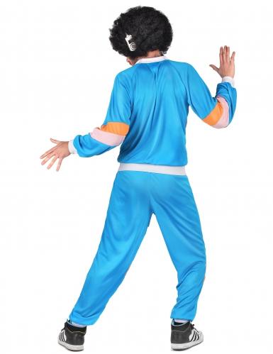 80er-Jahre Retro-Jogginganzug für Erwachsene blau-orange-rosa-2