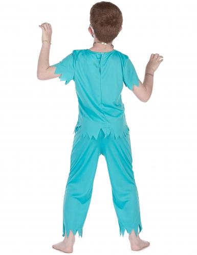 Zombie-Arzt Kinderkostüm Chirurg Halloween blau-rot-2