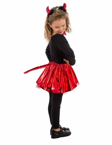 Teuflisches Kostüm-Set für Mädchen schwarz-rot-1