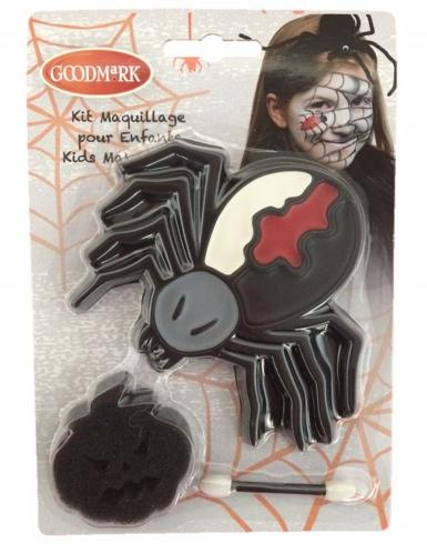 Gruseliges Spinnen-Make-up für Kinder Schmink-Set 3-teilig schwarz-weiss-rot