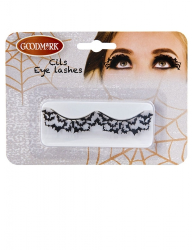 Fledermaus-Wimpern Halloween Augen-Make-up schwarz