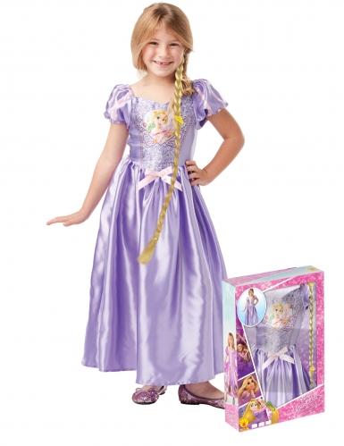 Rapunzel™-Kinderkostüm für Mädchen mit Perücke Disney™ lila