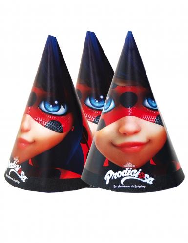 Ladybug™-Lizenzartikel Partyhüte 6 Stück bunt 16x11 cm