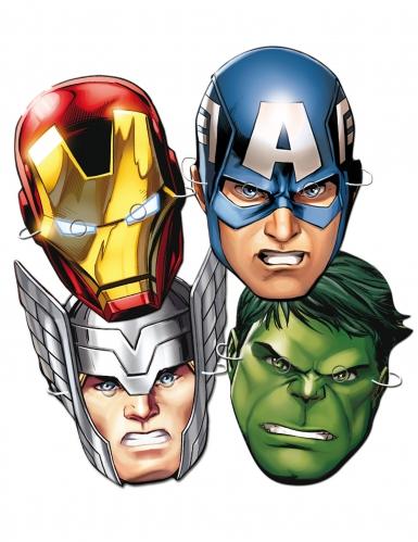 Avengers™-Pappmasken für Kinder Geburtstag 6 Stück bunt