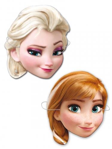 Frozen™-Masken Elsa und Anna Pappmasken bunt 6 Stück bunt
