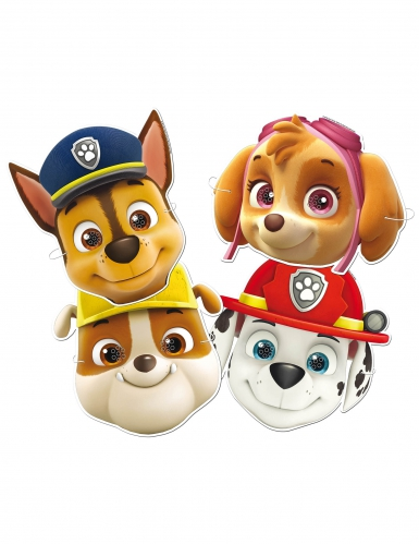 Paw Patrol™-Pappmasken für Kinder Partyzubehör 6 Stück bunt