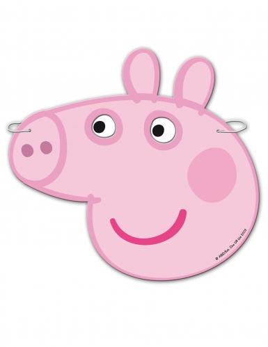 Peppa Wutz™-Masken für Kinder Geburtstagsparty 6 Stück rosa -1