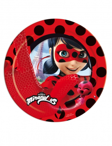 Ladybug™-Partyteller Lizenzprodukt Miraculous™ 8 Stück bunt 23 cm