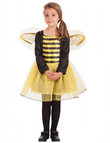 Süsses Bienenkostüm für Mädchen gelb-schwarz