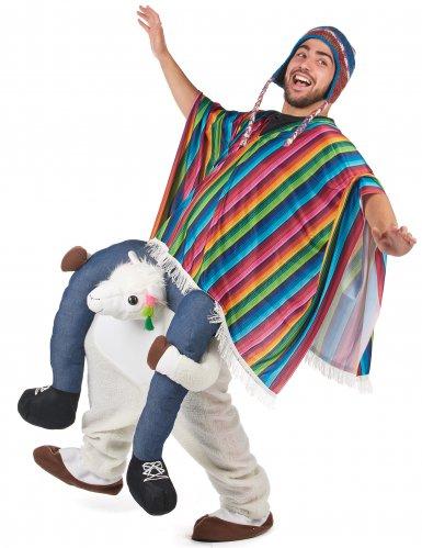 Carry Me Lama Kostüm für Erwachsene-1