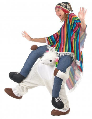 Carry Me Lama Kostüm für Erwachsene-3