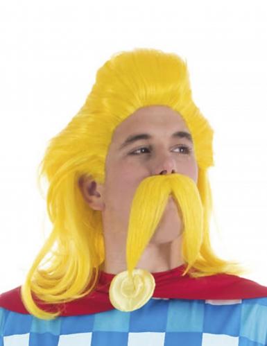 Troubadix™-Lizenzartikel Kostümset Perücke und Bart gelb