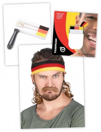 Deutschland Fan-Set Schminke, Ratsche, Stirnband