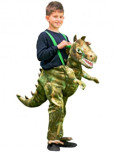 Dinosaurier Carry Me Kostüm für Kinder grün