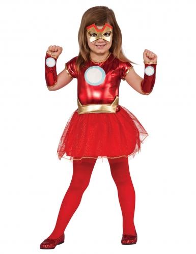 Iron lady™ Kinderkostüm für Mädchen Superheldin rot-gold