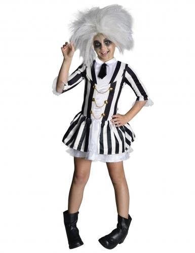 Beetlejuice™ Kostüm für Mädchen weiss-schwarz