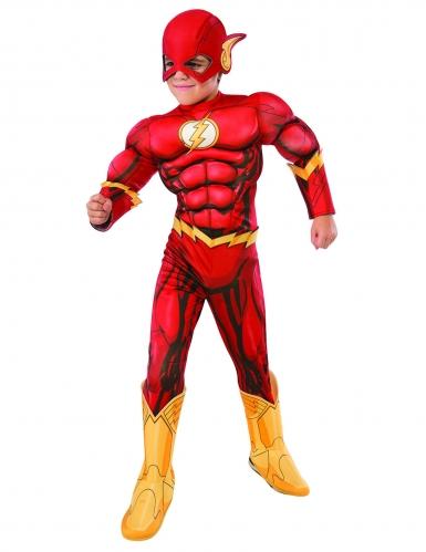 Flash™-Kostüm für Kinder Lizenzprodukt DC™ rot