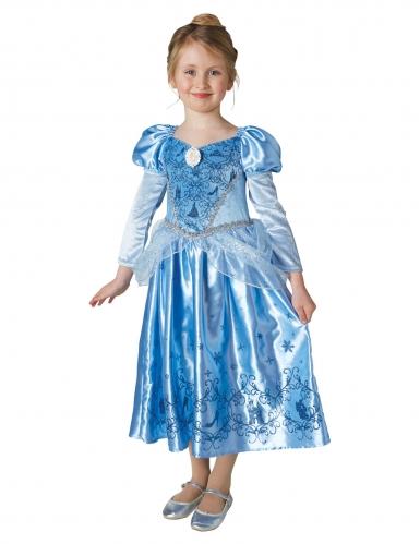 Aschenputtel™-Lizenzkostüm für Kinder Cinderella™ blau-1