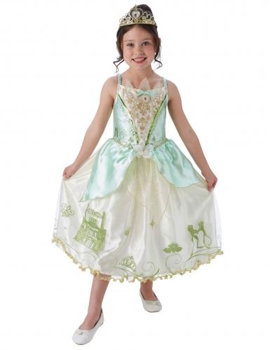Tiana™-Kinderkostüm für Fasching weiss-grün-türkis