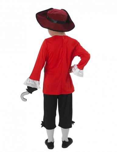 Captain Hock™-Lizenzkostüm für Kinder Pirat rot-schwarz-1