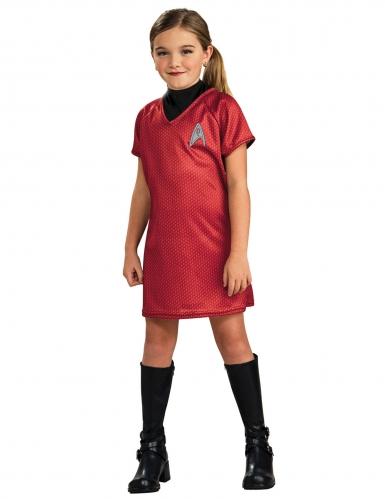 Uhura™-Mädchenkostüm Star Trek schwarz-rot
