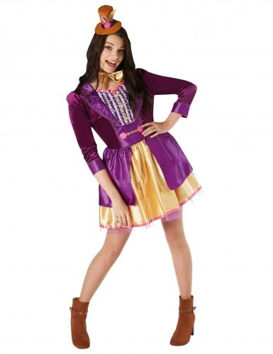 Willy Wonka™-Lizenzkostüm für Damen Charlie die Schokoladenfabrik bunt