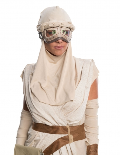 Star Wars™-Rey Damenkostüm Deluxe Lizenz-Verkleidung beige-1