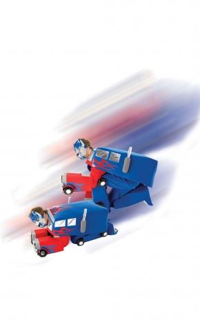 Optimus Prime™-Erwachsenenkostüm Transformers Karneval bunt-1
