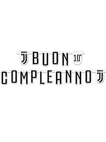 Juventus™-Girlande schwarz-weiss 294x20cm