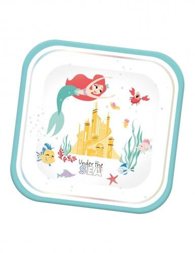 Arielle die Meerjungfrau™-Pappteller Tischdekoration 4 Stück bunt 24x24cm