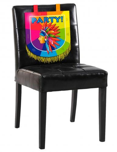 Indianer-Stuhlhusse für Geburtstage Party-Zubehör bunt 38 x 34cm