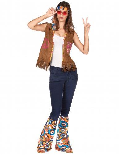 Flower Power Hippie-Kostümset 2-teilig bunt