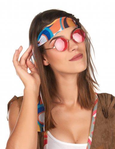 Flower Power Hippie-Kostümset 2-teilig bunt-2