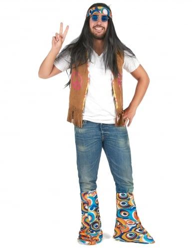 Flower Power Hippie-Kostümset 2-teilig bunt-3
