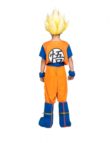 Super Saiyan Goku Dragon Ball™-Lizenzkostüm für Kinder orange-blau-2