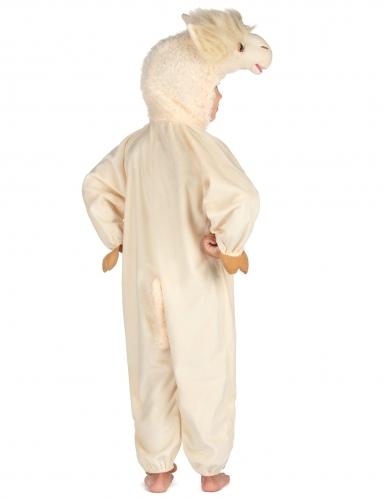 Lama Kinderkostüm Tier-Verkleidung weiss-1