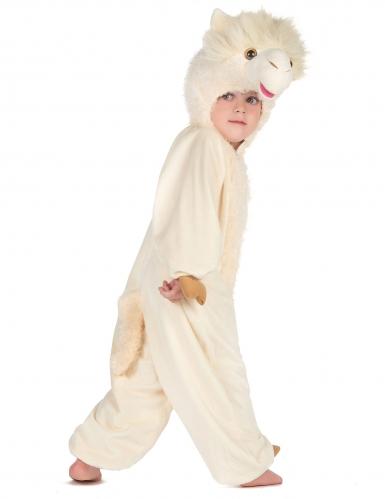 Lama Kinderkostüm Tier-Verkleidung weiss-2