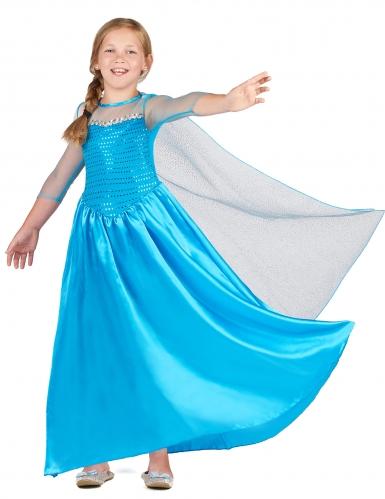 Eisprinzessin-Mädchenkostüm Märchenkostüm blau