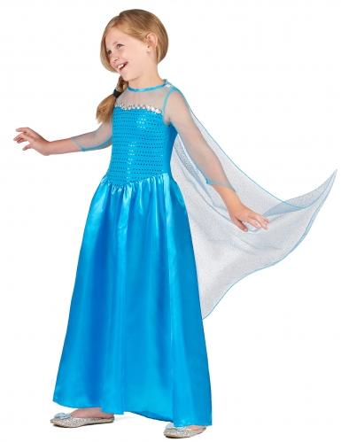 Eisprinzessin-Mädchenkostüm Märchenkostüm blau -1
