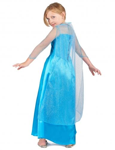 Eisprinzessin-Mädchenkostüm Märchenkostüm blau -2