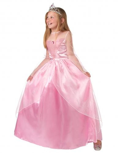 Märchenhaftes Prinzessinnen-Mädchenkostüm rosa-1